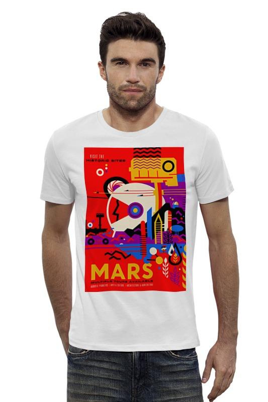 Футболка Wearcraft Premium Slim Fit Printio Космический туризм футболка wearcraft premium printio космический кит