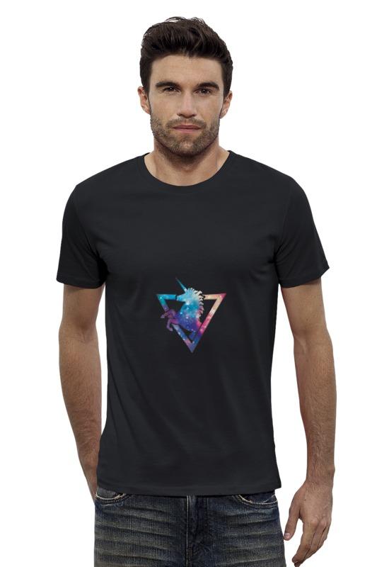 Футболка Wearcraft Premium Slim Fit Printio Космический единорог футболка wearcraft premium printio космический кит
