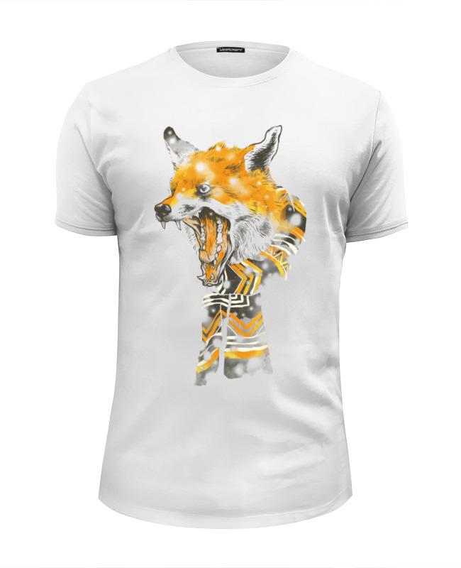 Футболка Wearcraft Premium Slim Fit Printio Лис в шарфе футболка wearcraft premium slim fit printio лис лис лис на красном