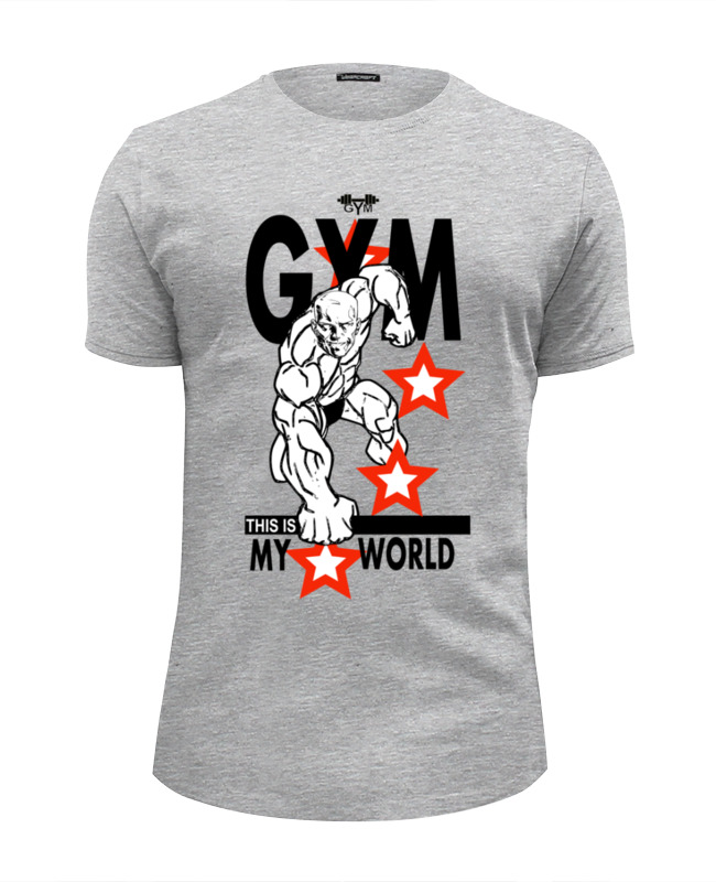 Футболка Wearcraft Premium Slim Fit Printio Gym this is my world! футболка wearcraft premium printio gym this is my world page 2 page 7