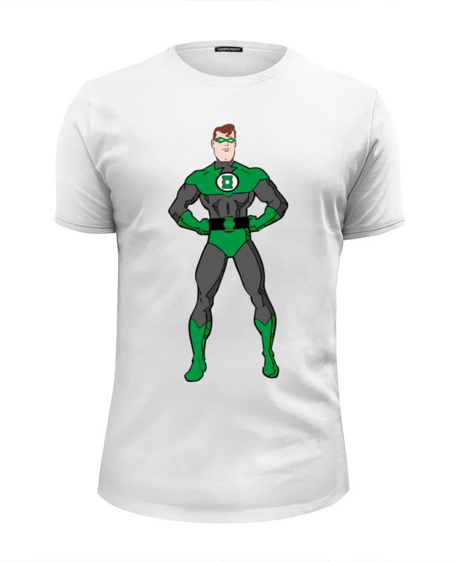 Футболка Wearcraft Premium Slim Fit Printio Зеленый фонарь (green lantern) green lantern by geoff johns omnibus volume 3
