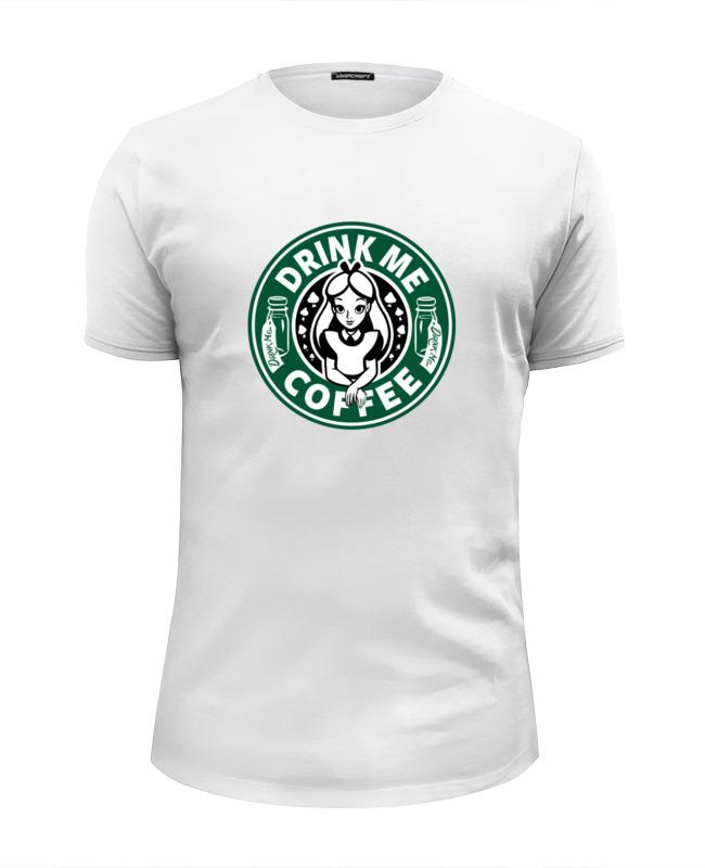 Футболка Wearcraft Premium Slim Fit Printio Drink me coffee (налей мне кофе) футболка wearcraft premium slim fit printio drink coffee