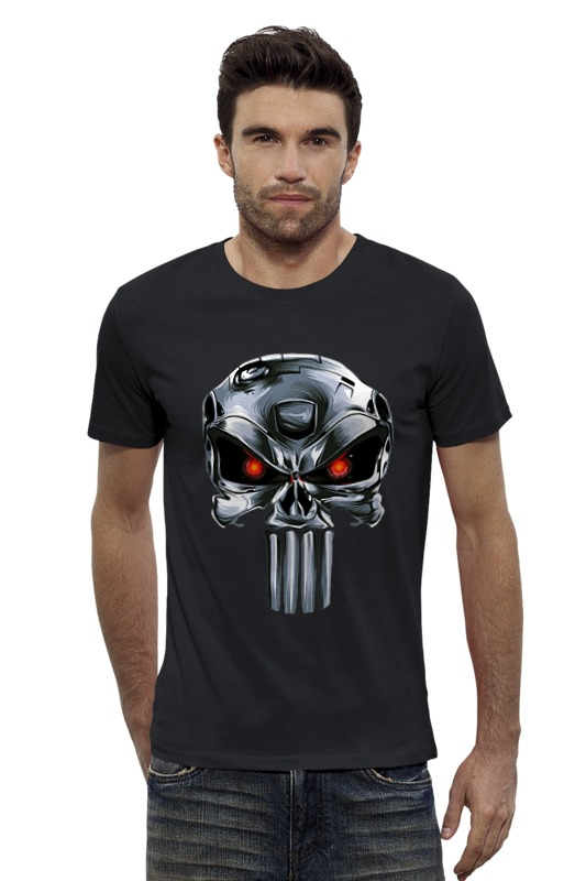 Футболка Wearcraft Premium Slim Fit Printio Punisher of the future лонгслив printio punisher of the future