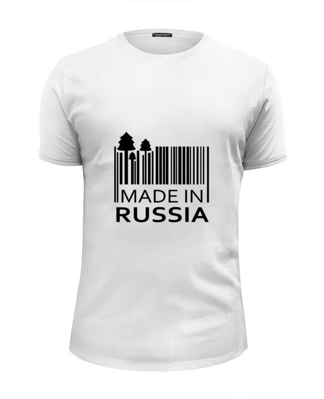 Футболка Wearcraft Premium Slim Fit Printio Made in russia футболка print bar trump 16
