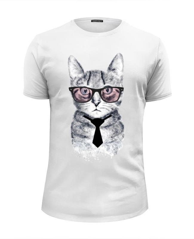 Футболка Wearcraft Premium Slim Fit Printio Умный кот футболка wearcraft premium slim fit printio кот суши