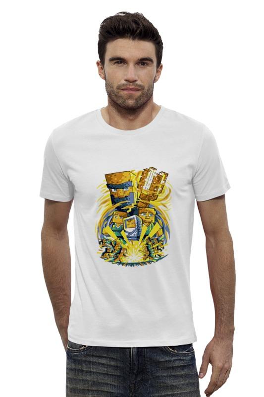 Футболка Wearcraft Premium Slim Fit Printio Майнкрафт (копатель) футболка wearcraft premium printio игра престолов