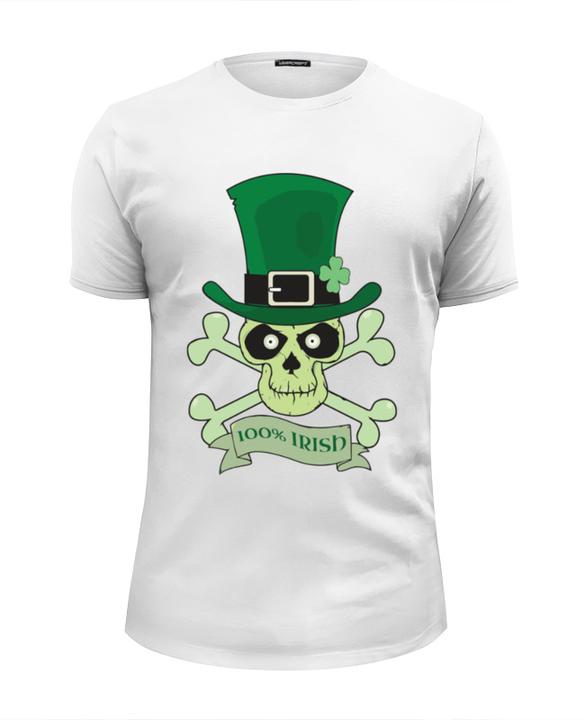 Футболка Wearcraft Premium Slim Fit Printio Настоящий ирландец (100% irish) футболка стрэйч printio настоящий ирландец 100% irish