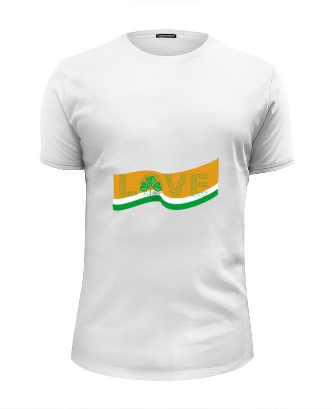Футболка Wearcraft Premium Slim Fit Printio Love с ирландским флагом цена и фото