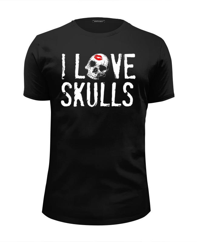 Футболка Wearcraft Premium Slim Fit Printio I love skulls футболка wearcraft premium slim fit printio html love
