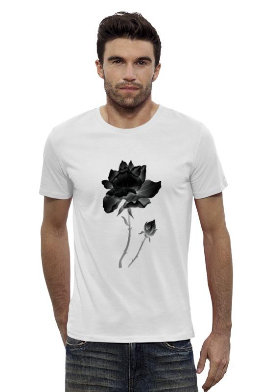 Футболка Wearcraft Premium Slim Fit Printio Черная роза пламенная роза тюдоров