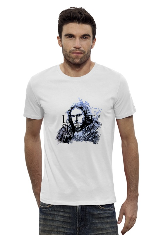 Футболка Wearcraft Premium Slim Fit Printio Jon snow из сериала игра престолов (5) game of thrones jon snow wigs black curly synthetic hair