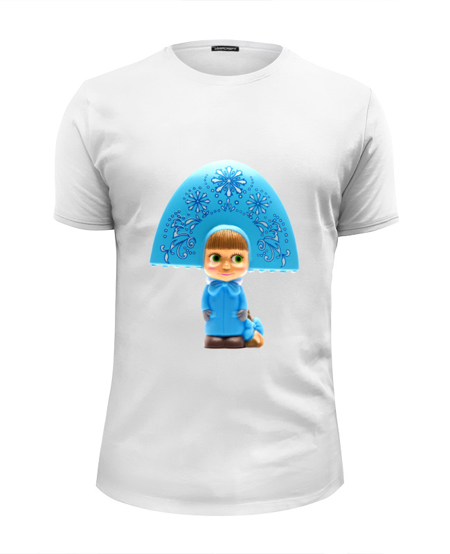 Футболка Wearcraft Premium Slim Fit Printio Кукла-девочка маша из мульта. смешная озорная футболка wearcraft premium printio кукла девочка маша из мульта смешная озорная