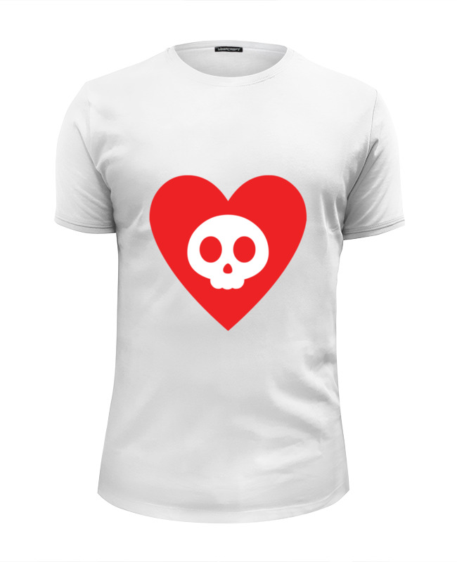 Футболка Wearcraft Premium Slim Fit Printio Череп в сердце футболка рингер printio disney princess