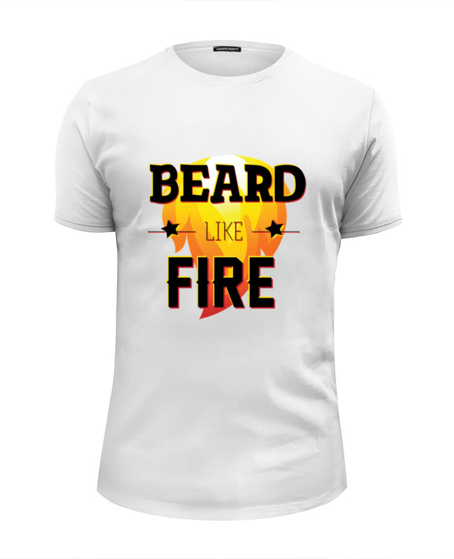 Футболка Wearcraft Premium Slim Fit Printio Beard like fire цена