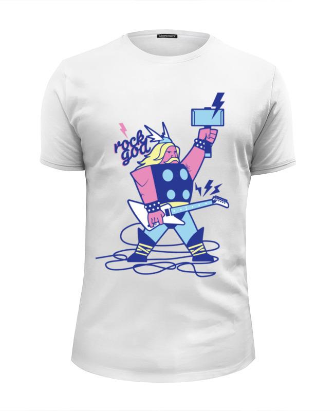 Футболка Wearcraft Premium Slim Fit Printio Бог рока (rock god) футболка wearcraft premium printio греческий бог