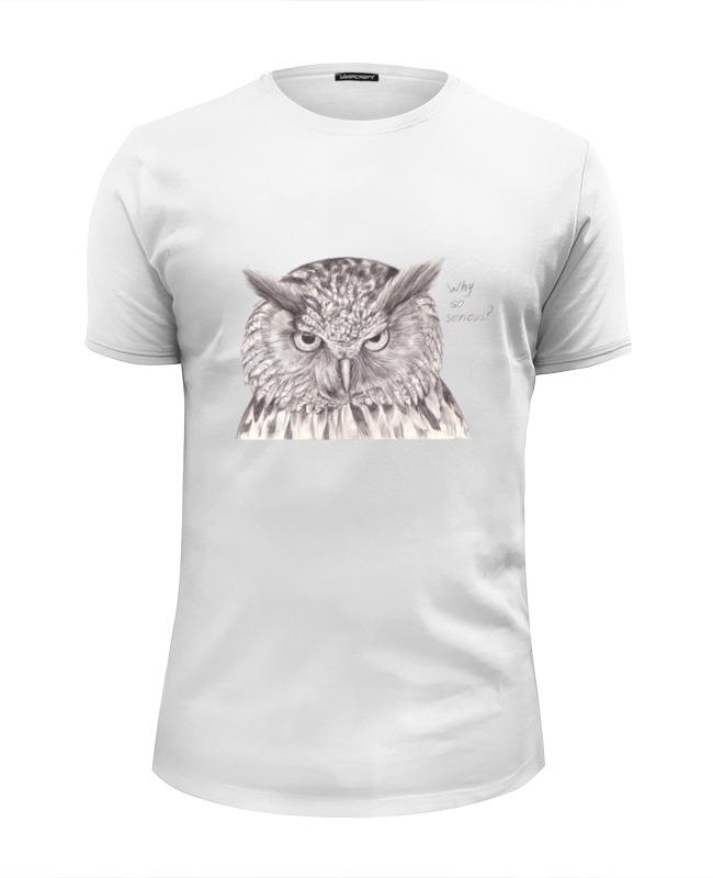 Printio Серьезная сова футболка wearcraft premium slim fit printio you mom http