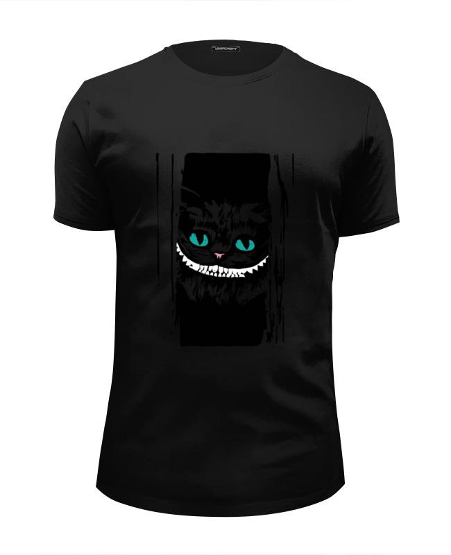 Футболка Wearcraft Premium Slim Fit Printio Чеширский кот (алиса в стране чудес) emily rise кофта лиса алиса и кот базилио