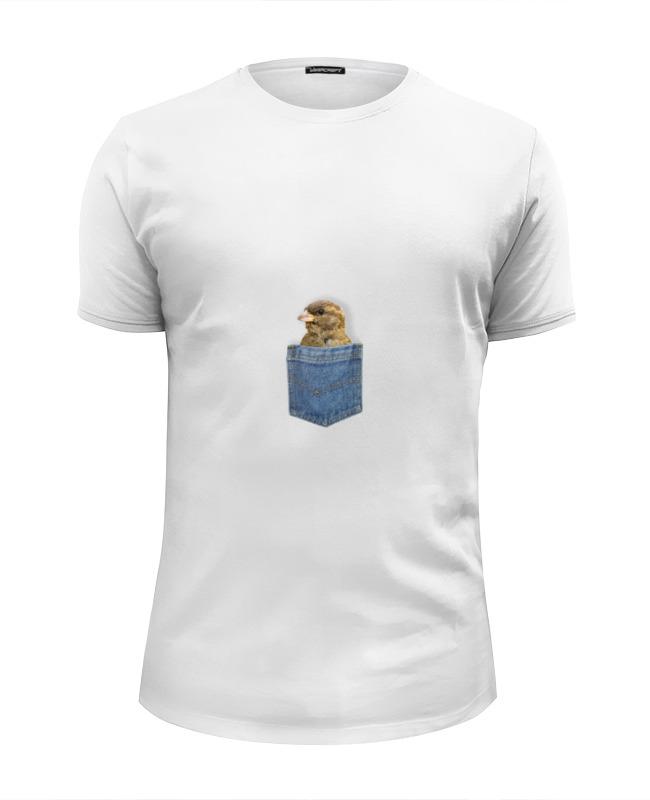 Футболка Wearcraft Premium Slim Fit Printio Воробей в кармашке футболка wearcraft premium slim fit printio красный воробей