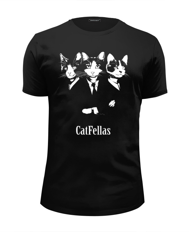 футболка wearcraft premium slim fit printio коты и кошки cats Футболка Wearcraft Premium Slim Fit Printio Славные коты