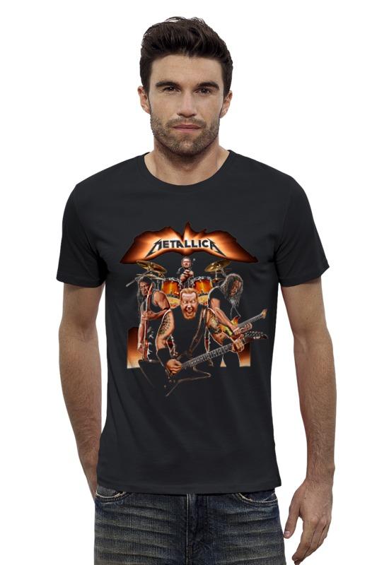 Футболка Wearcraft Premium Slim Fit Printio Metallica - fan-art футболка wearcraft premium slim fit printio psy art arsb