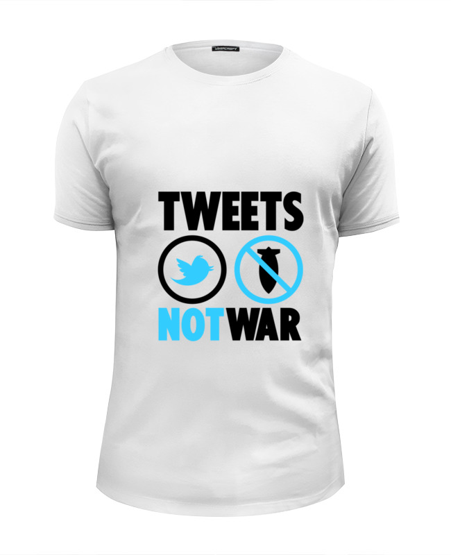 Футболка Wearcraft Premium Slim Fit Printio Tweets not war футболка wearcraft premium slim fit printio gears of war