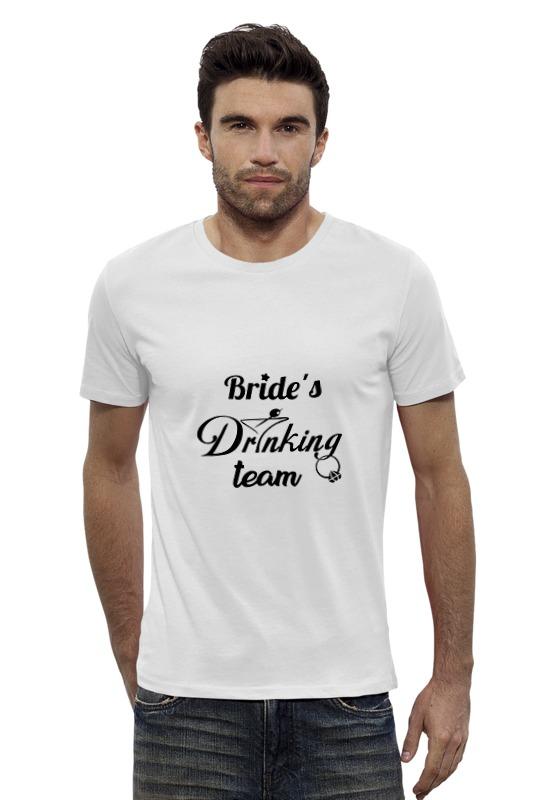Футболка Wearcraft Premium Slim Fit Printio Bride's drinking team ян сестры и пион букеты букеты невесты держа букет подружек невесты держа чай роза