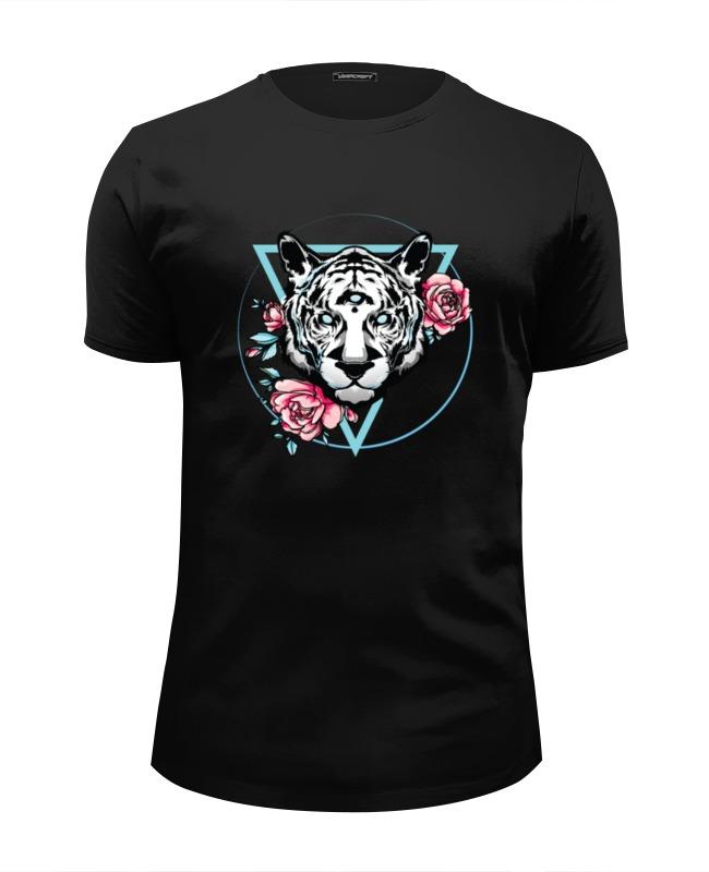 Футболка Wearcraft Premium Slim Fit Printio Голубоглазый тигр футболка wearcraft premium slim fit printio марио тигр