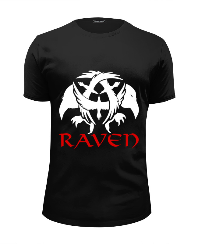 Футболка Wearcraft Premium Slim Fit Printio Raven brand chantecaille luster glide silk infused eye liner raven цвет raven