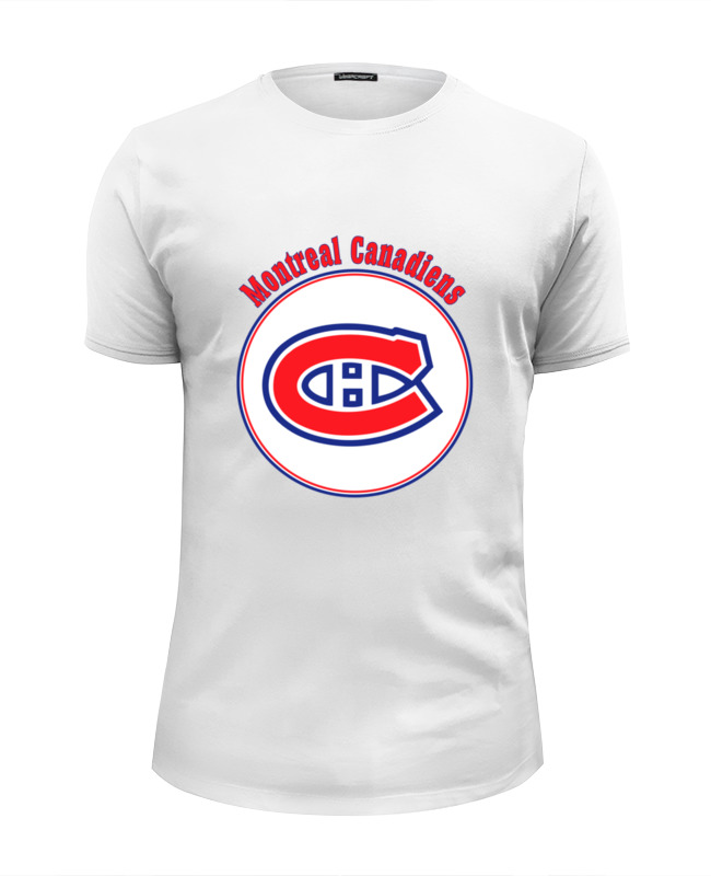 Футболка Wearcraft Premium Slim Fit Printio Montreal canadiens цена и фото