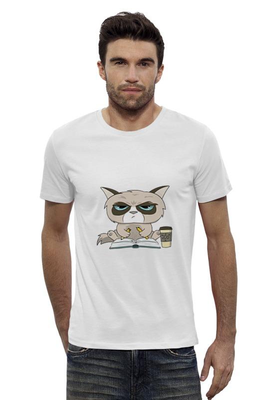 Футболка Wearcraft Premium Slim Fit Printio Грустный кот футболка wearcraft premium slim fit printio кот и кошка