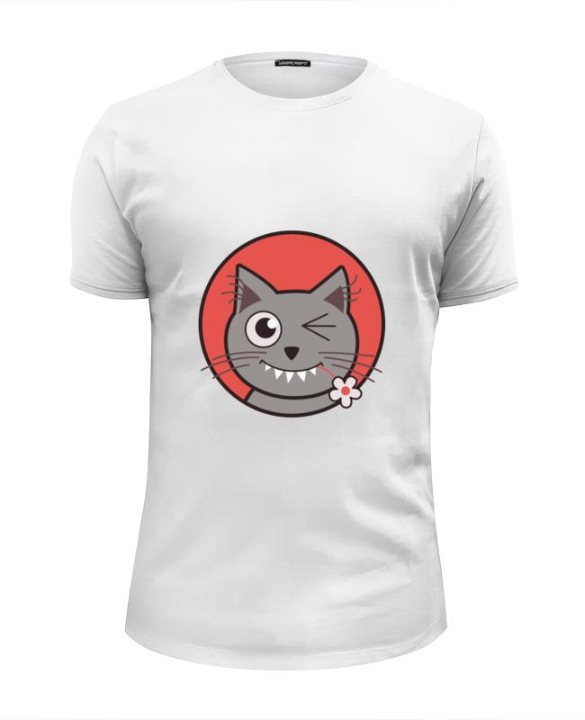 Футболка Wearcraft Premium Slim Fit Printio Забавный кот футболка wearcraft premium slim fit printio кот суши