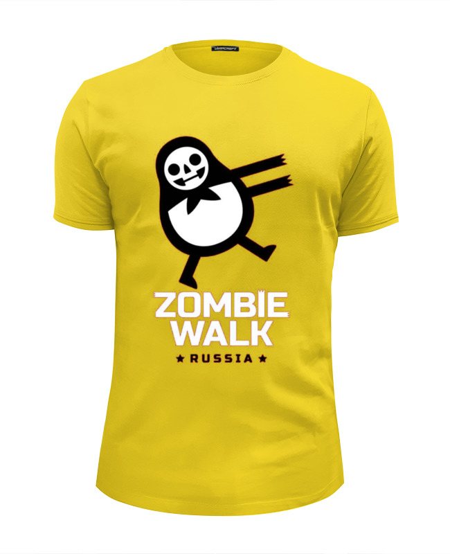 Футболка Wearcraft Premium Slim Fit Printio Zombie walk - russia walk of shame юбка брюки