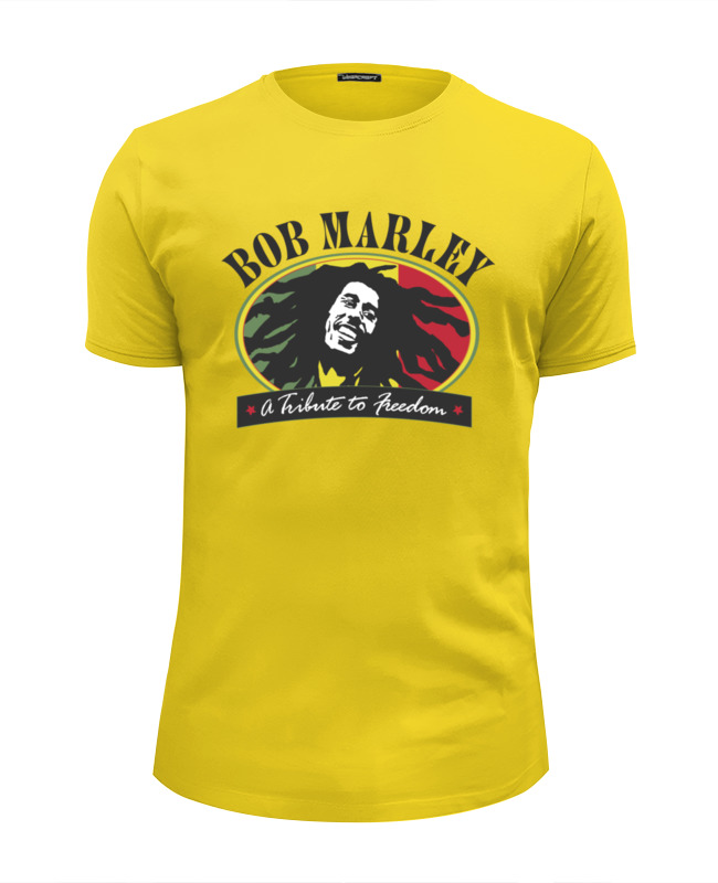 Футболка Wearcraft Premium Slim Fit Printio Bob marley (боб марли) боб марли bob marley hits