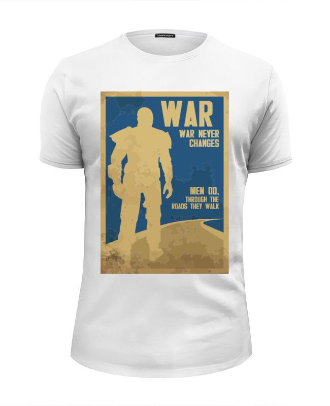 Футболка Wearcraft Premium Slim Fit Printio Fallout - war never changes civil war ii fallout