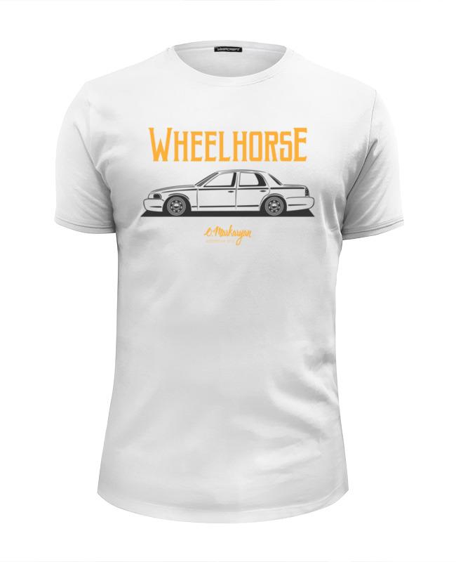 Фото - Футболка Wearcraft Premium Slim Fit Printio Wheelhorse. crown victoria футболка wearcraft premium printio wheelhorse crown victoria