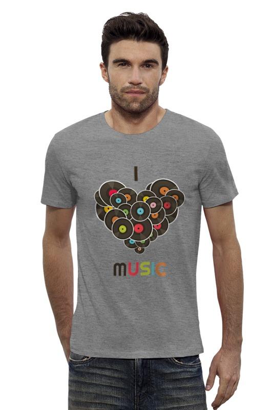Футболка Wearcraft Premium Slim Fit Printio I love music футболка wearcraft premium slim fit printio i love science я люблю науку