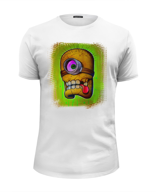 Футболка Wearcraft Premium Slim Fit Printio Skull minion футболка wearcraft premium slim fit printio minion fighter