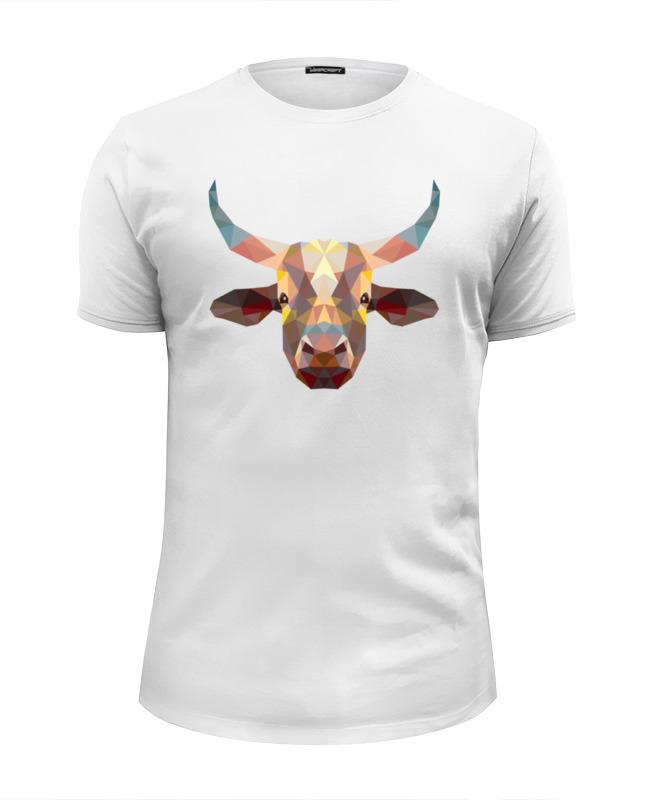 Printio Полигональный бык футболка wearcraft premium slim fit printio полигональный лев