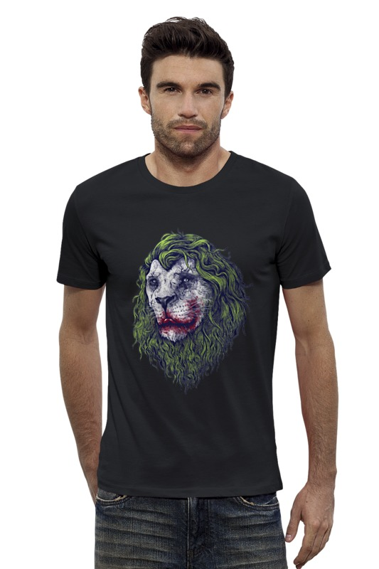 Футболка Wearcraft Premium Slim Fit Printio Joker lion футболка wearcraft premium slim fit printio joker