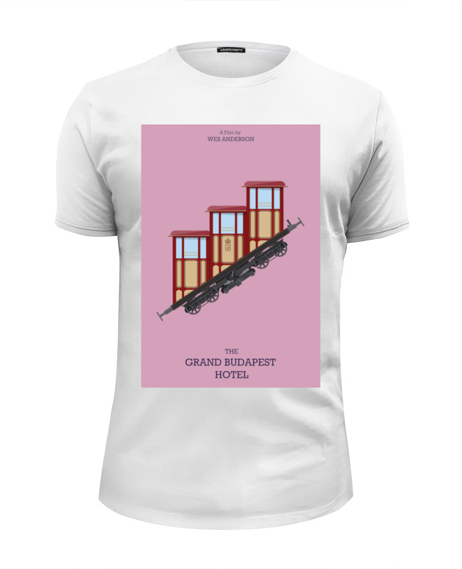 Футболка Wearcraft Premium Slim Fit Printio Отель «гранд будапешт» / the grand budapest hotel against the grain