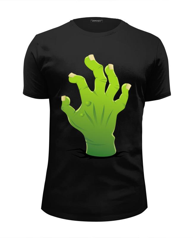 Футболка Wearcraft Premium Slim Fit Printio Зомби рука футболка wearcraft premium slim fit printio рука пистолет bang