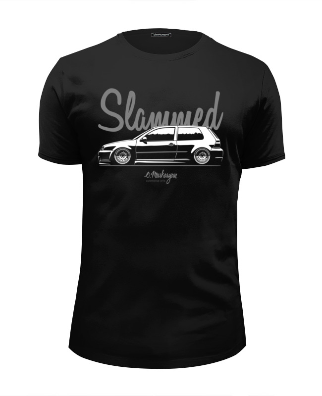 Футболка Wearcraft Premium Slim Fit Printio Slammed vw golf