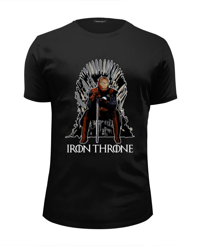 Футболка Wearcraft Premium Slim Fit Printio Iron throne майка print bar iron throne