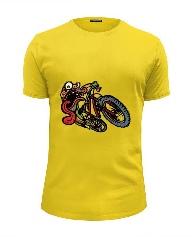 цена на Футболка Wearcraft Premium Slim Fit Printio Зомби на велосипеде