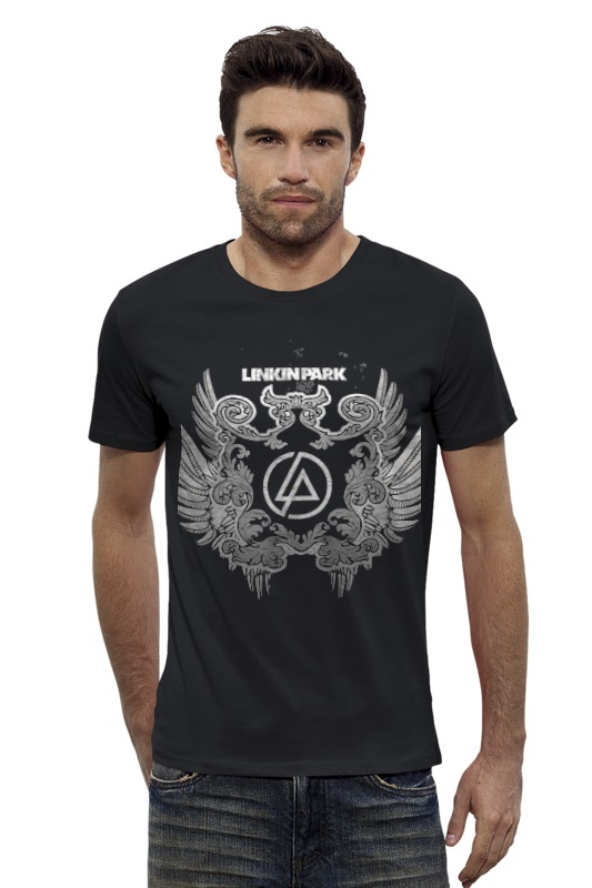 Футболка Wearcraft Premium Slim Fit Printio Linkin park - logo cd диск linkin park recharged 1 cd
