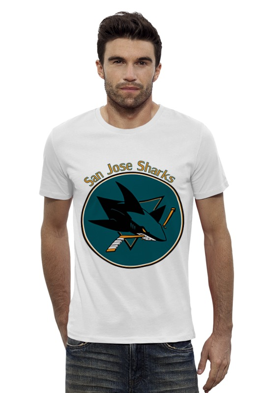 Футболка Wearcraft Premium Slim Fit Printio San jose sharks футболка для беременных printio san jose sharks