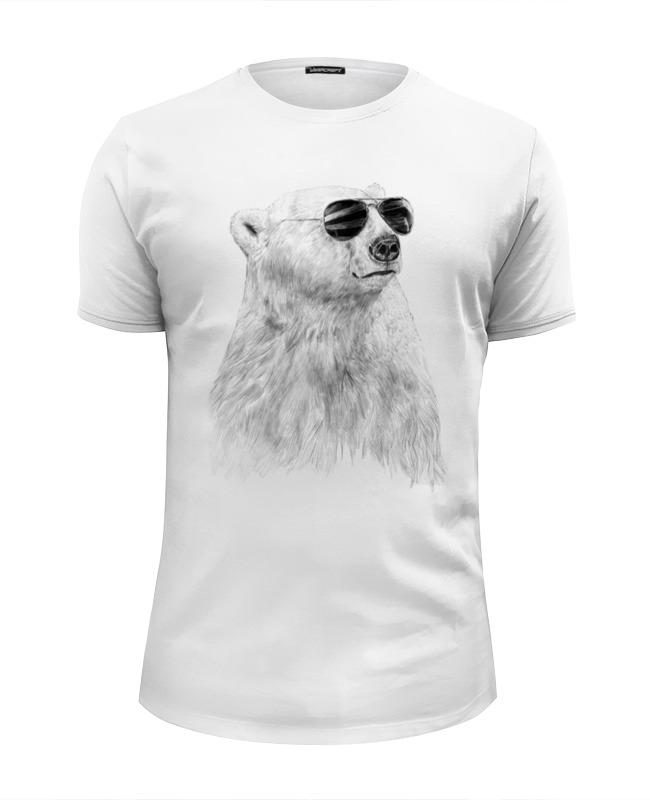 Футболка Wearcraft Premium Slim Fit Printio Белый медведь футболка wearcraft premium slim fit printio белый ходок
