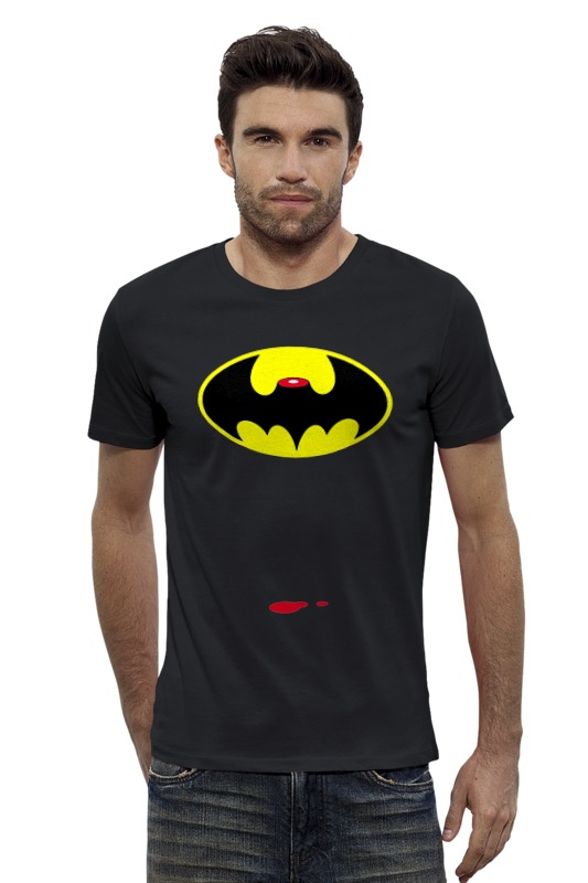 Футболка Wearcraft Premium Slim Fit Printio Dead batman футболка wearcraft premium printio украина мы любим тебя