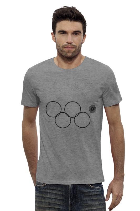 от шамони до сочи 100 лет зимних олимпийских игр Футболка Wearcraft Premium Slim Fit Printio Олимпийские кольца в сочи 2014