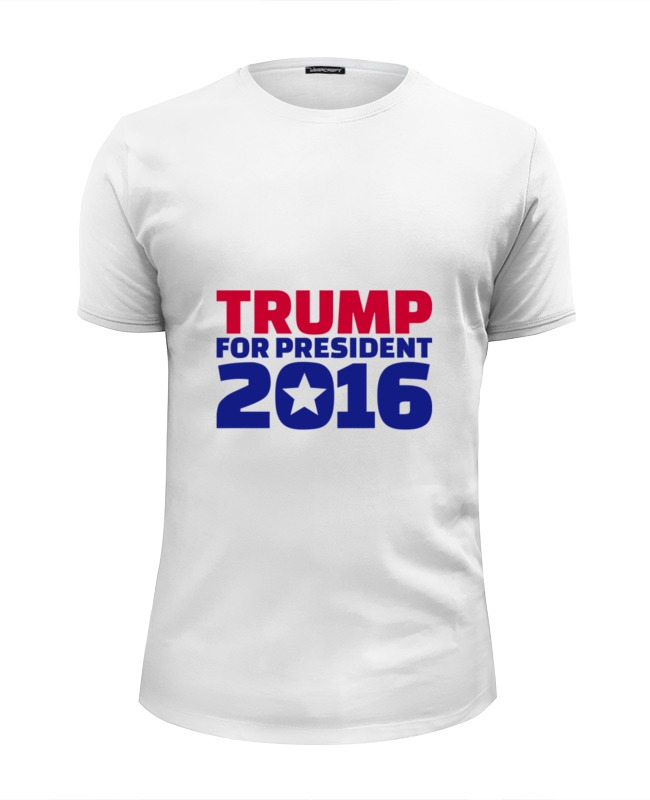 Футболка Wearcraft Premium Slim Fit Printio Trump for president